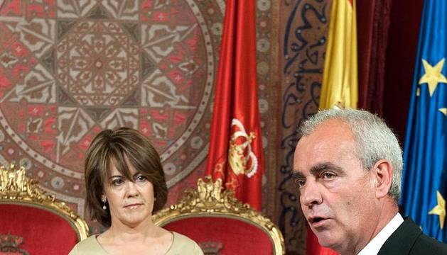 Ceremonia en el Palacio de Navarra de la toma de posesión de los nuevos vicepresidentes y consejeros del Gobierno foral tras la ruptura del pacto entre UPN y PSN