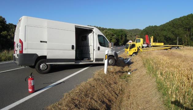 Imagen del accidente en Labeaga, facilitada por el Gobierno de Navarra