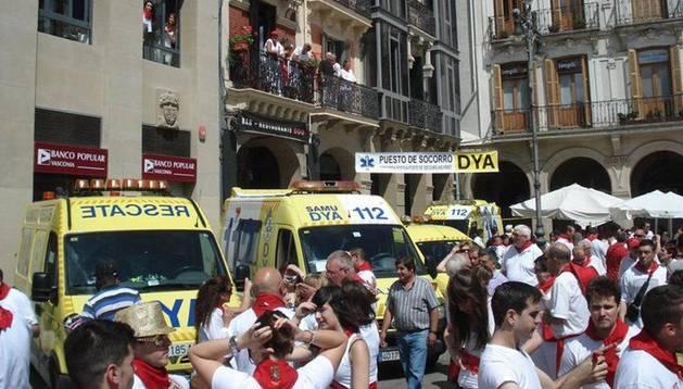 El equipo de la DYA, los pasados Sanfermines 2012