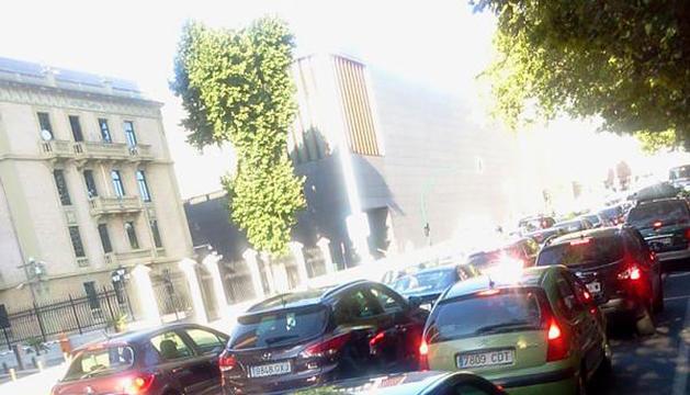 Atasco en Pamplona