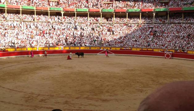 La plaza de Toros de Pamplona esta tarde