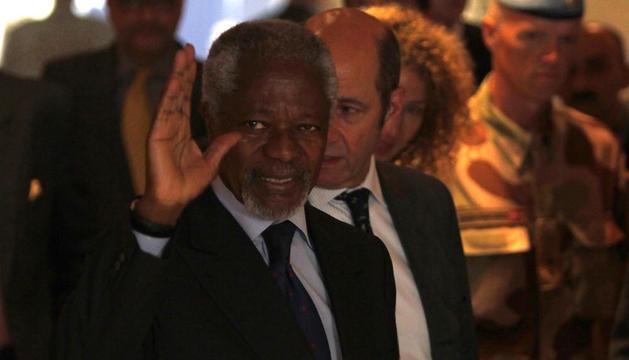 Kofi Annan, llegandao a Siria