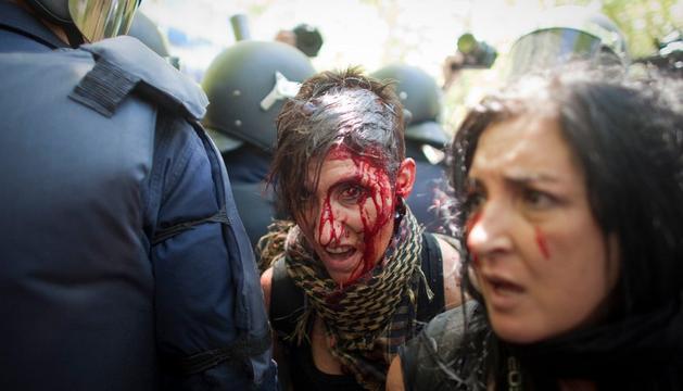 Ha habido 76 heridos por cargas policiales