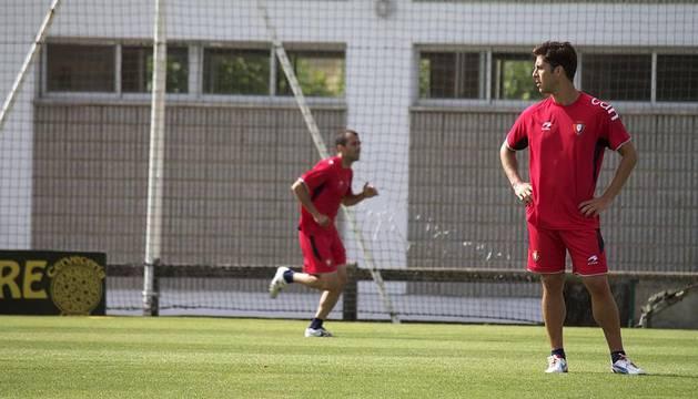 Los jugadores de Osasuna entrenaron este viernes, 20 de julio, antes de disputar su segundo amistoso frente a la SD Logroñés