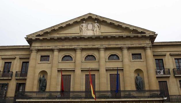 Fachada del Palacio de Navarra, sede del Gobierno foral