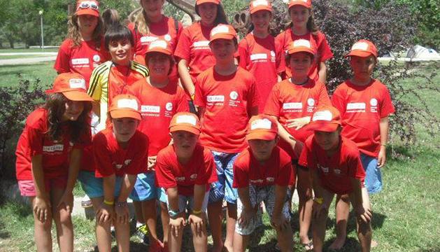 Niños que han participado en el Campamento de Mendigorría.