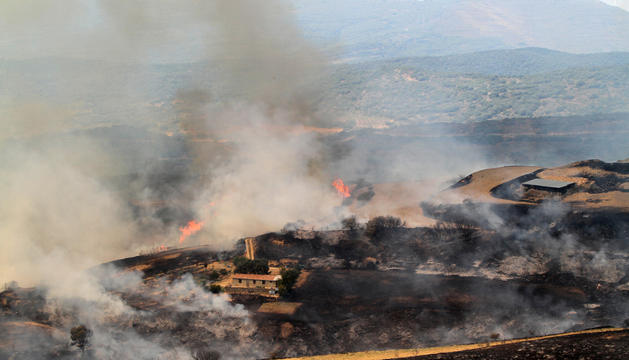El incendio que afectó este miércoles a Ujué