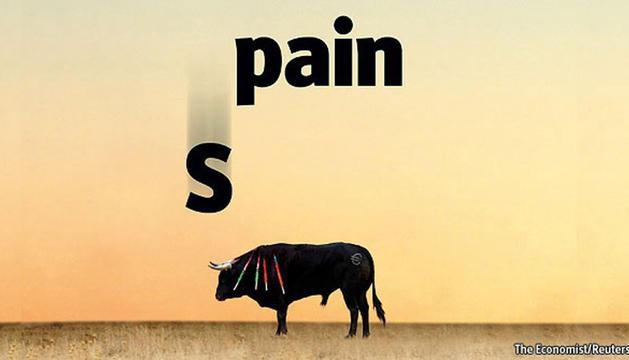Portada del artículo del diario británico The Economist en el que alude a la crítica situación de la economía española