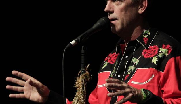 Hugh Laurie, en la actuación de Barcelona