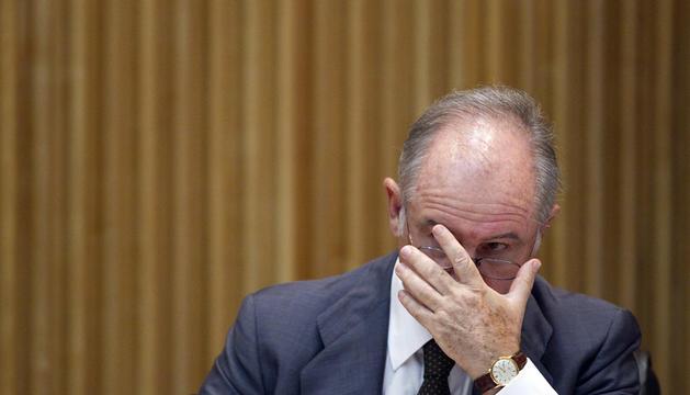 El expresidente de Bankia, Rodrigo Rato, durante su comparecencia este jueves