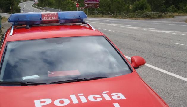 La Policía Foral en una de las carreteras de Navarra.