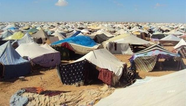 Un campamento de refugiados del Sahara