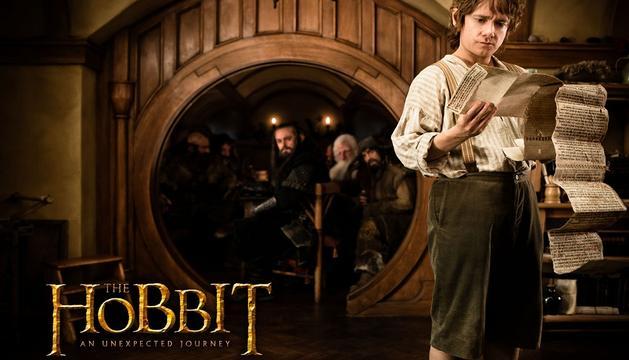 Cartel de la película 'El hobbit: un viaje inesperado', dirigida por Peter Jackson