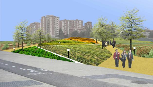 Recreación del parque central de Lezkairu