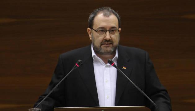 Nuin, en una intervención en el Parlamento
