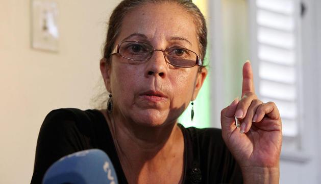 Ofelia Acevedo, viuda del fallecido disidente cubano Oswaldo Payá.