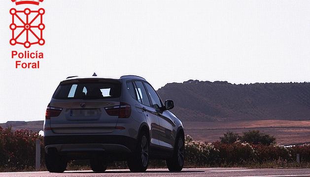 Un BMW, a 209 km/h, pillado en AP-68