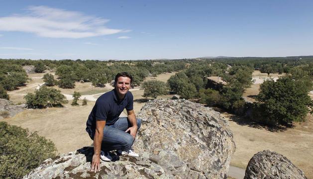 César Palacios en el Monte Valonsadero, la gran zona de recreo de Soria, a la que acude con mucha frecuencia.