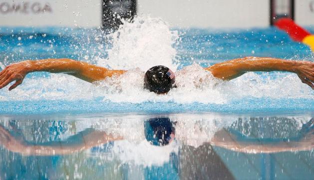 Michael Phelps, en acción
