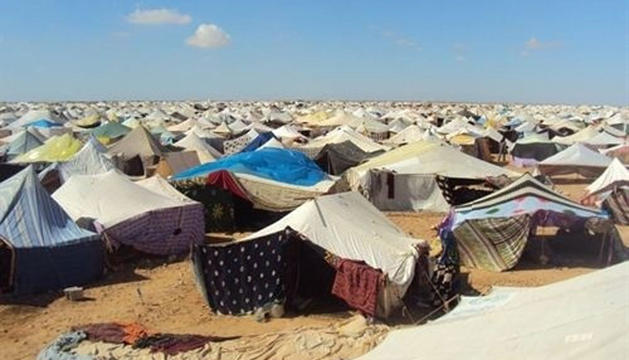 Campamento de refugiados del Sáhara Occidental.