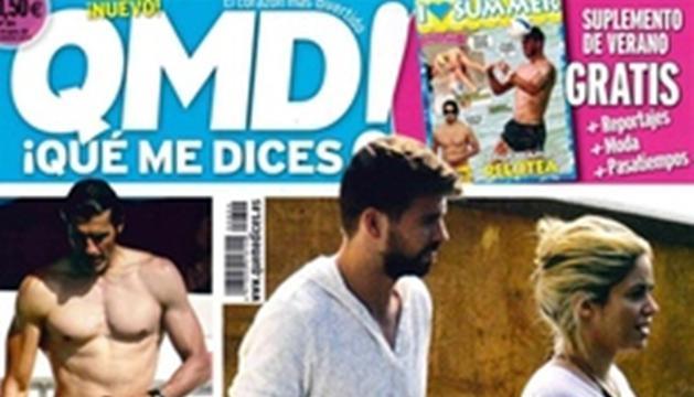 Portada de la revista 'QMD!' donde se puede contemplar a la pareja paseando por Barcelona