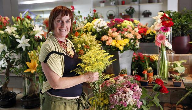 Esther Irigoyen Otazu, presidenta de la Asociación de Floristas de Navarra (Nasoflor).
