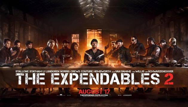 Cartel promocional de la película Los Mercenarios