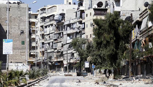 Imagen del distrito de Salaheddine en la localidad siria de Alepo.