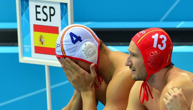Balazs y Daniel López tras quedarse a las puertas de las medallas en Londres.