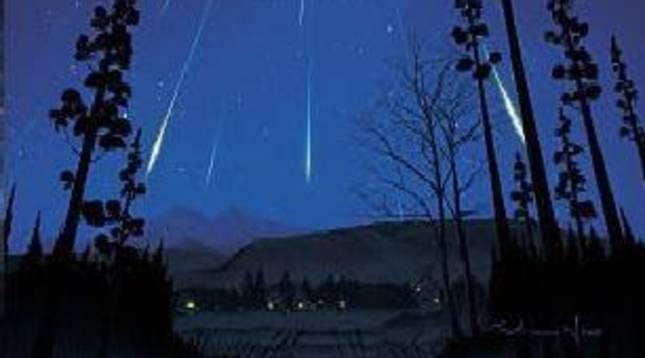Imagen de archivo de la lluvia de estrellas