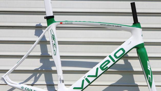 Bicicleta que el equipo Caja Rural utilizará en la Vuelta Ciclista a España