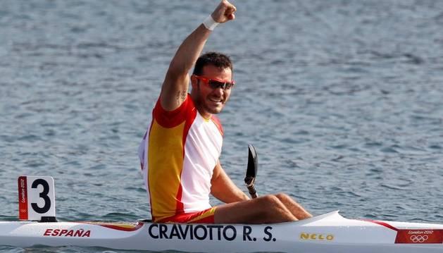 Saúl Craviotto celebra el metal conseguido en la final celebrada este sábado