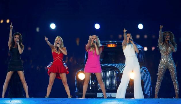 El grupo británico Spice Girls se reunió tras cuatro años sin hacerlo en el acto de clausura de los Juegos Olímpicos de Londres 2012