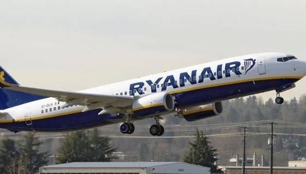 Un avión de la compañía Ryanair