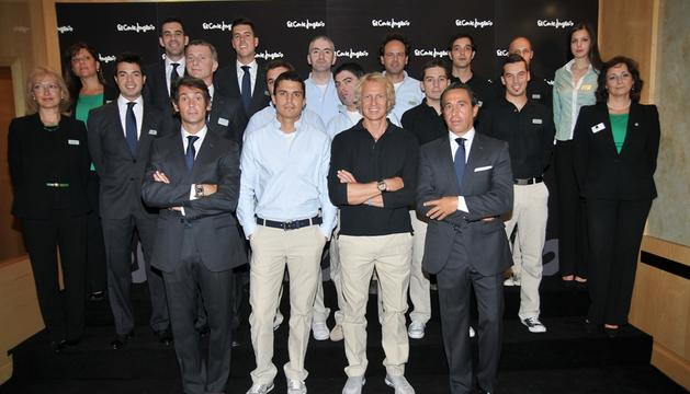 Para la presentación, El Corte Inglés ha elegido como modelos a Sebastián Palomo Danko, hijo del matador de toros Sebastián Palomo Linares, al deportista Álvaro Bultó y al actor Alex González