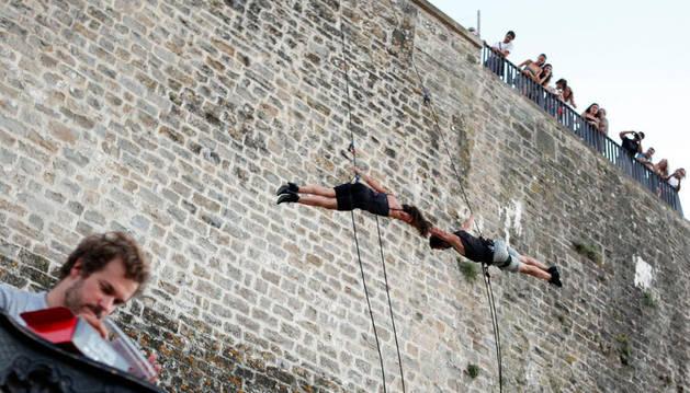 En un ensayo de danza vertical, el pasado fin de semana