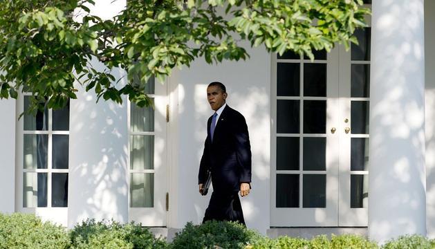 El presidente norteamericano, Barack Obama, a su llegada a la Casa Blanca.