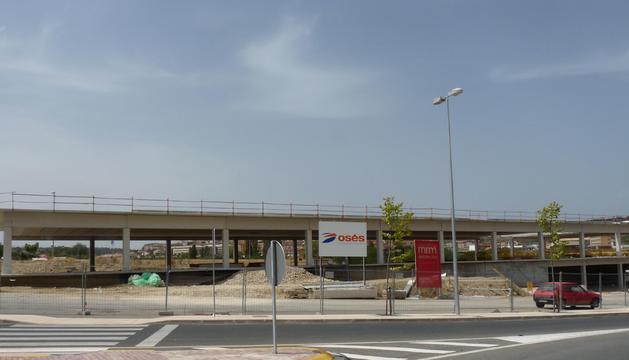 Las obras del nuevo edificio de la escuela taller de Estella han continuado durante este verano de la mano de Construcciones Osés