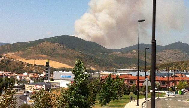 Imagen del fuego desde Itaroa