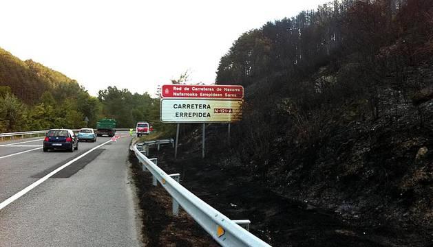 Nuevo incendio en el monte Arromendi de Sorauren