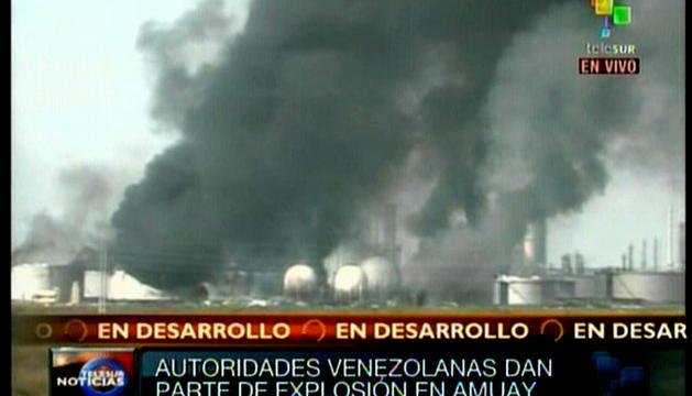Tras la explosión en una refinería de Venezuela