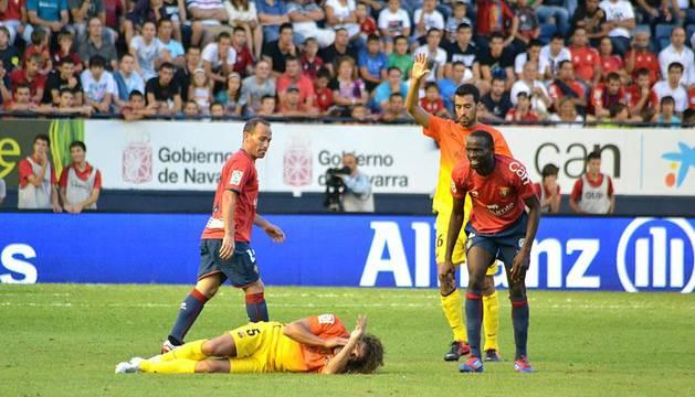 Imágenes del partido que han disputado Osasuna y Barcelona en el Reyno de Navarra, y que ha terminado con victoria culé por 1-2