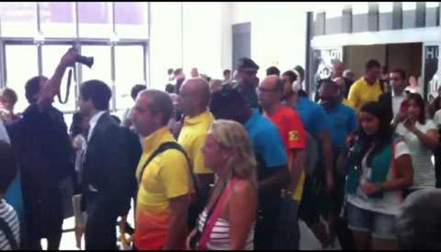 Recibimiento al Barça en Pamplona