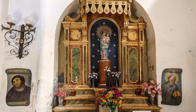El eccehomo en la iglesia del santuario de Nuestra Señora de la Misericordia de Borja (Zaragoza)