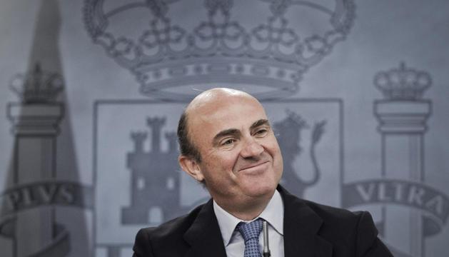 El ministro de Economía. Luis de Guindos, dijo que el