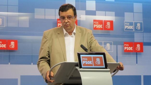 Imagen de Juan José Lizarbe durante la rueda de prensa de este viernes 31 de agosto
