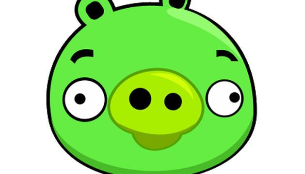 El cerdo verdo de los Angry Birds