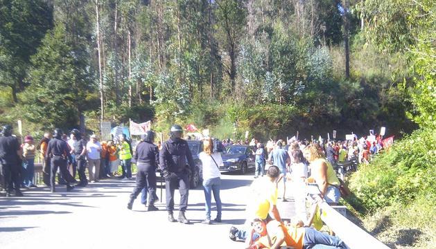 La protesta de los afectados, en Pontevedra