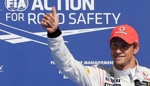 Button, tras conseguir la 'pole'.