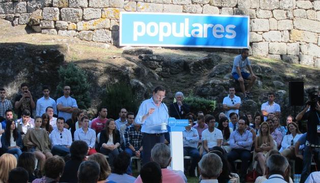 Rajoy, este sábado, en Pontevedra